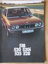 BMW 5 SERIES SALOONS 1976 1977 UK Mkt Sales Brochure Prospekt - E12 520i 525 528