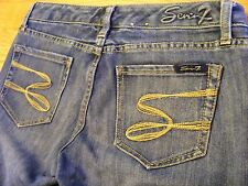 Seven Boot Cut Cotton Blend Low Rise Stonewashed Jeans Size 28 - CL0224-0125