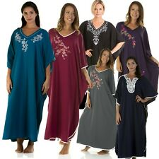 Ladies Full Length Nightie Ladies Full Length Kaftan Ladies Nightwear Loungewear