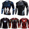 Men's Compression Marvel 3D Shirt Long Sleeve Costume Cosplay Tops Wicking Tee