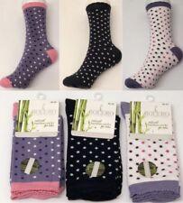 3 Pairs Polka Dot Women's Ladies Bamboo Super Soft Antibacterial Exclusive Socks
