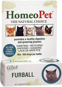 HomeoPet Feline Furball Relief, 15 ML Per Bottle