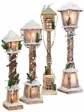 Light Up Wooden Lamp Post Christmas Decoration Nordic Xmas LED Pre Lit