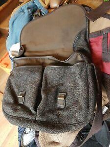 Harris Tweed Brown/fawn Herringbone, mens Shoulder Bag/satchel. Fishing/shooting