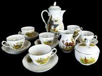 Tirschenreuth Kaffeeservice jagdmotiv Bavaria Porzellan 15 tlg. Kaffee Set
