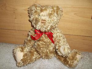 "Hallmark 100 Years Collectors Jointed Teddy Bear Plush- 13"""