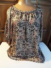 WOMENS ALLEN B SIZE XL  3/4 SLEEVE BLOUSE ROUND NECK