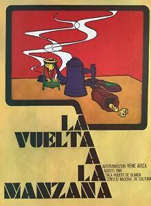 Poster. La Vuelta a La Manzana, 1968. Poster by CNC/ICAIC. Measures: 12 ½ x 17