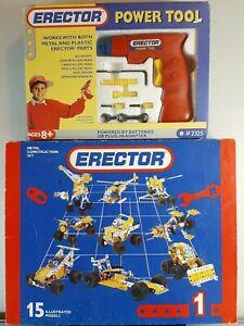 Vintage Meccano #1 Erector Set # 030401 & Power Tool Kit # 2325