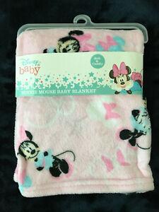 NWT disney Baby soft pink MINNIE MOUSE fleece blanket