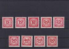 1919/21 Porto Neue Ziffernzeichnungen Postfrisch ** MNH 75 - 83