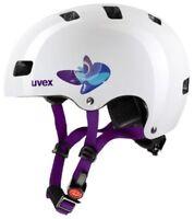 UVEX Kid 3 butterfly blue Fahrradhelm Radhelm Kinder Helm Scooter Inliner Skate