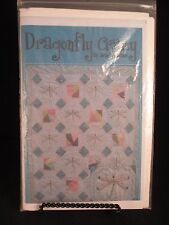 "Dragonfly Craze Embroidered Quilt Pattern 53"" x 64"" never used"