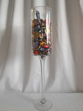 CYLINDER GLASS VASE ON STAND 60cm x 11cm HOME DECOR CANDLES PARTY DISPLAY
