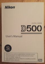 NIKON D500 Manual  - Printed & Professionally Bound Size A5 - NEW 404 Pages