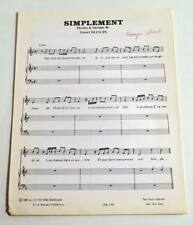 Partition vintage sheet music DIESEL : Simplement * 80's DEFILIPI