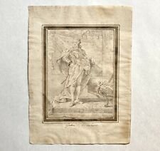 Francesco Galimberti Portrait Drawing of King Gustav III of Sweden, 18th C Italy