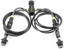 Ninja CO2/HP Coiled Remote Microbore 2-Line Hose w/Slide Check Made in USA