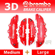 New 4pcs Red 3D Disc Brake Caliper Cover Kit For BMW 3 Series 4 Series 5 Series