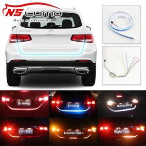 Flow LED Car Vehicle Rear Trunk Tailgate Turn Signal Lamp Tail Brake Light Strip
