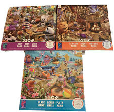 NEW Ceaco® Chef Mania, Story Mania & Beach Mania Puzzles. Lot of 3, 750 pieces