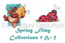 *Special Offer* Spring Fling Collections 1 & 2 M/C Embroidery Designs 2 Cds/Usb