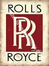 Rolls Royce, Classic Car Badge, 159 Vintage Garage Old, Small Metal/Tin Sign