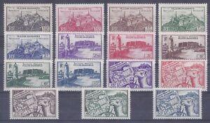 Colonies françaises  - Fezzan - n° 28 à 42**