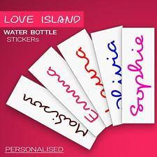 Personnalisé Nom Amour autocollant de bouteille d'eau ISLAND style rendre propre...