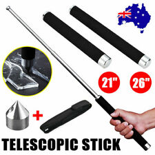 "26"" Portable Pocket Self Defense Telescopic Stick Whip Retractable Outdoor Tools"
