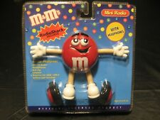Vintage Radio Shack Official M&M's RED Personal Mini AM/FM Radio w/Headphones