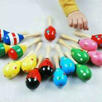 1PCS Wooden Maraca Baby Rattle Rattle Party Toy Small Hammer Sand V4M9