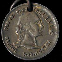 ANTIQUE GEORGE WASHINGTON DOUBLE SIDED KEY FOB 1ST PRESIDENT USA 1789 1797 OLD !