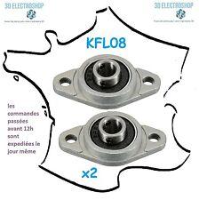 2x Paliers à billes KFL08 pour arbre 8mm bcn3d sigma, liquid crystal, 3d print