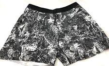 NEW Lululemon BLACK & WHITE Channel Cross Swim Trunks Short  Size XL (large) $88
