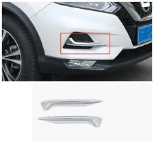 Front Fog Light Lamp Cover Trim Eyelid Strip Fit Nissan Rogue Sport Qashqai 2020
