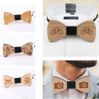 Men's Wooden Bow Tie Classic Wedding Party Bow Tie Accesorries Necktie Gift
