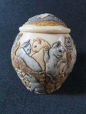 """Jardinia Trinket Box Pot. """"Cats Galore"""" Harmony Kingdom,"""