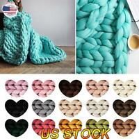1/4/8pc Chunky Wool Yarn Soft Bulky Arm Knitting DIY Wool Roving Crocheting Knit