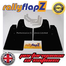 rallyflapZ Mitsubishi Evolution 1, 2 & 3 - Mudflaps & Fixing Kit Black Kaylan PU