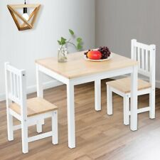 Rectangle Dining Table & 2 Chairs Furniture Set Kids Child Desk Seat Living Room