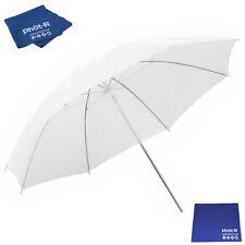 """Phot-R 33""""Translucent White Reflector Diffuser Umbrella Microfibre Chamois Cloth"""