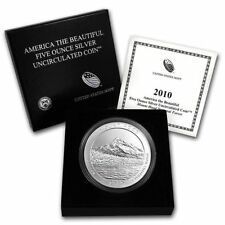 2010 P 5 oz America the Beautiful 999 Silver ATB Mount Hood with Box and COA