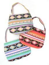 Geometric Print Fabric Long Handle Hand Bag Side Bag Ladies Girls Bag