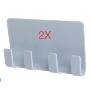 Lot Of 2 Pop Wall Holder Bracket Shelf Mount Support Universal, -Teal