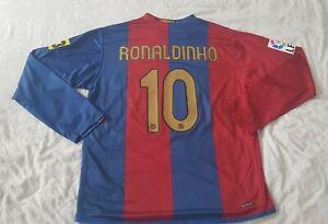 Ronaldinho FC Barcelona Player/Match Issue Shirt from 2006/07 season