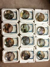 Thomas Kinkade Simpler Times 12 Month's Porcelain Plates With Certificates