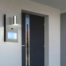 LED Wand Leuchte Haus-Nummer Außen BEWEGUNGSMELDER Edelstahl Garten Lampe silber