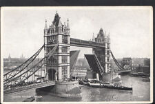 London Postcard - Tower Bridge Raised With Steamer Passing Through RS4245