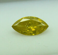 1.01ct Fancy Vivid Yellow Marquise Diamond GIA Graded
